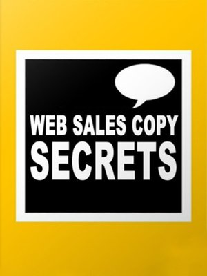 cover image of Web Sales Copy Secrets